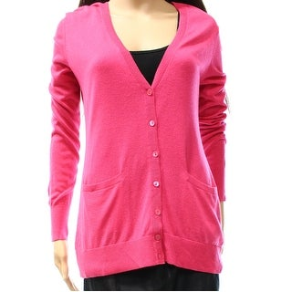 Nordstrom Collection NEW Pink Women Size Small S Cardigan Silk Sweater
