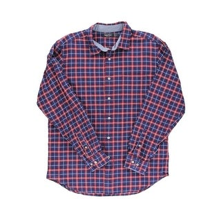 Nautica Mens Cotton Plaid Button-Down Shirt