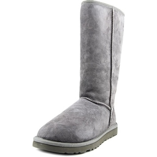 Ugg Australia Classic Tall Women  Round Toe Suede Gray Winter Boot
