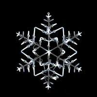 """18"""" LED Lighted Snowflake Christmas Window Silhouette Decoration - WHITE"""
