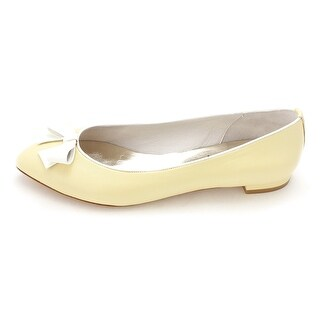 French Sole Womens Imleda Leather Pointed Toe Ballet Flats