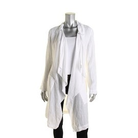 Pure DKNY Womens Linen Sheer Lab Coat - p