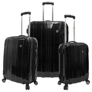 Travelers Choice Sedona 3-Piece Expandable Spinner Luggage - Black