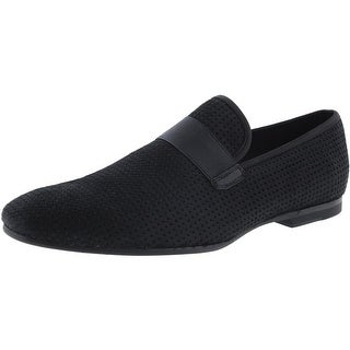 Calvin Klein Mens Nemo Calf Hair Perforated Loafers