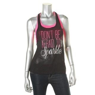 Material Girl Womens Juniors Sheer Graphic Pullover Top - XS