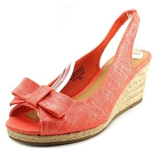 Karen Scott Alloraa Open Toe Synthetic Wedge Heel