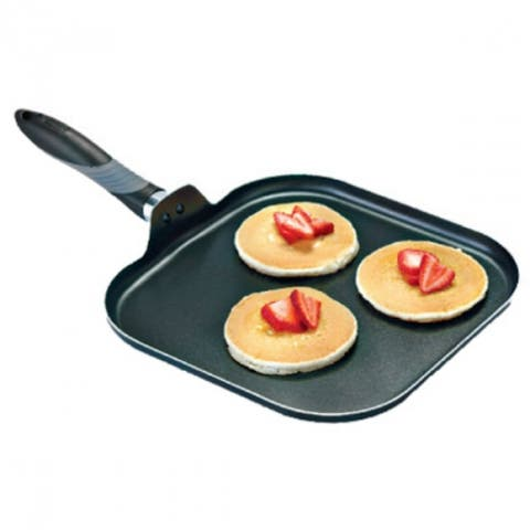 Mirro A7971384 Get-A-Grip Aluminum Non-Stick Griddle, Black, 11""