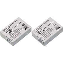 Replacement Battery LP-E8 / BLI-384 / 4515B002 7.4V Lithium Ion For CANON Camera Models New 2 Pack
