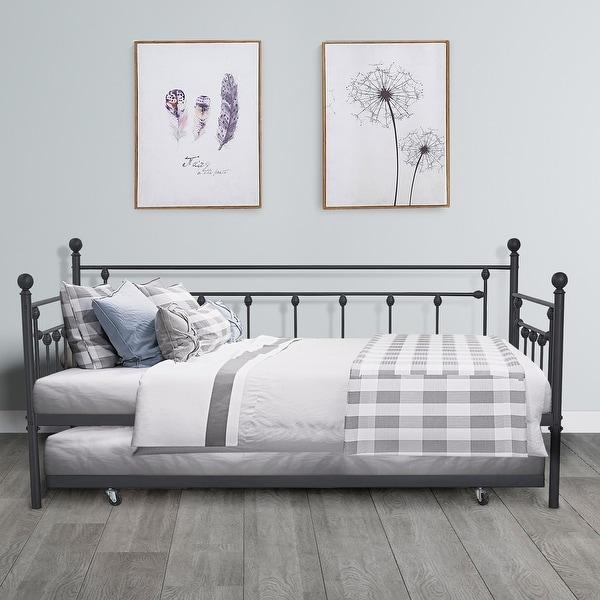 Shop Vecelo Metal Daybed Or Trundle Platform Bed Frame