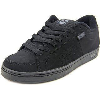 Etnies Kingpin Men Round Toe Leather Black Skate Shoe