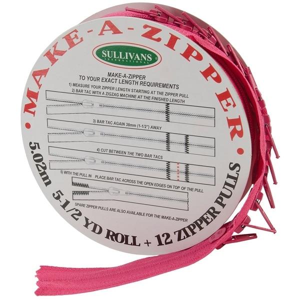 Make-A-Zipper Kit 5-1/2yd-Hot Pink