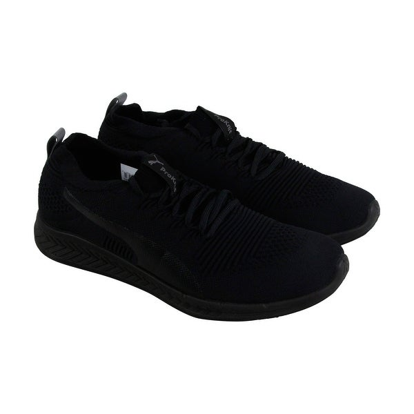 Puma Ignite Evoknit 3D Mens Black Textile Athletic Lace Up Training Shoes