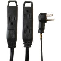 Axis 45515 3-Outlet Indoor Extension Cord, 8Ft (Black)