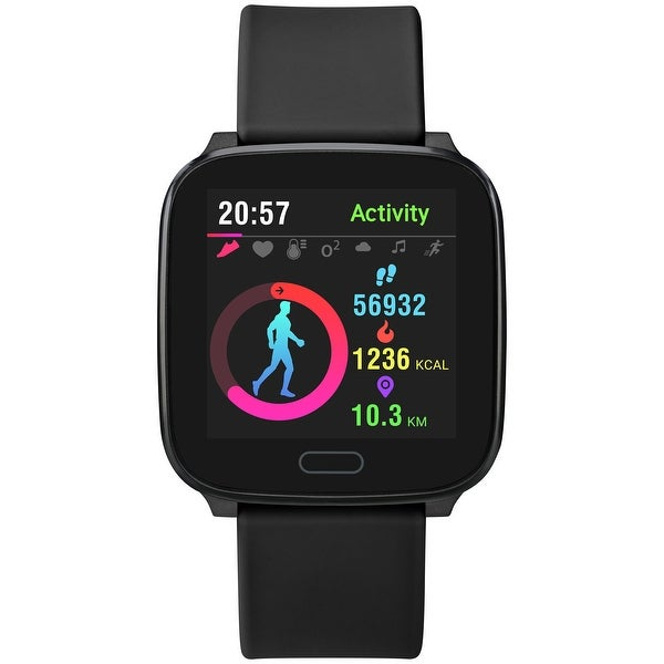 iConnect by Timex Active Smartwatch with Heart Rate, Notifications & Activity Tracking 37mm - Black with Black Resin Strap. Opens flyout.