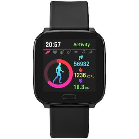 iConnect by Timex Active Smartwatch with Heart Rate, Notifications & Activity Tracking 37mm - Black with Black Resin Strap