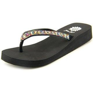 Yellow Box Zemily Women Open Toe Leather Flip Flop Sandal