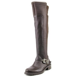 BCBGeneration Sigmond Round Toe Leather Over the Knee Boot