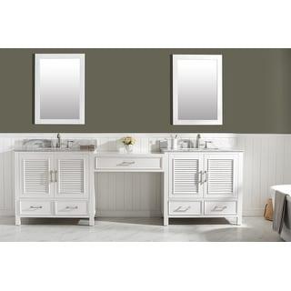 """Link to Estate 102"""" Double Sink Bathroom Vanity Modular Set in White Similar Items in Bathroom Vanities"""