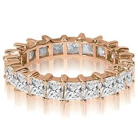 6.50 cttw. 14K Rose Gold Princess Shared-Prong Diamond Eternity Ring