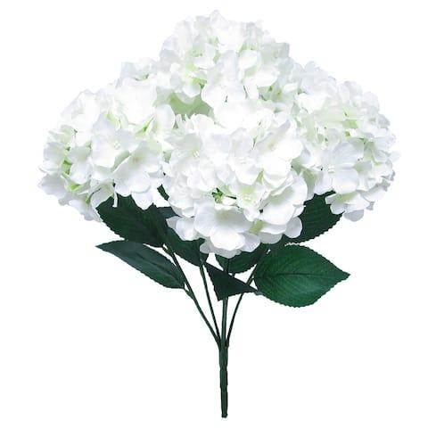 Deluxe Hydrangea Flower Stems Bush Bouquet 22in