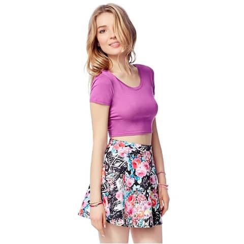Aeropostale Womens Stretch Floral Mini Skirt