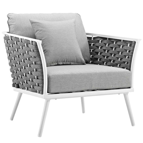 Stance Outdoor Patio Aluminum Dining Armchair. Opens flyout.