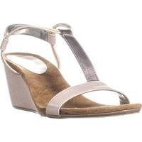 SC35 Mulan T-Strap Wedge Sandals, Moonlight - 9 us