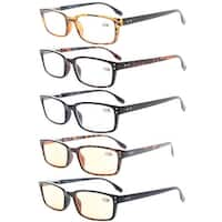 Eyekepper Readers 5-Pack Classical Spring-Hinges Reading Glasses +4.0