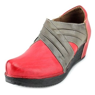 Spring Step Funtastic Women Round Toe Leather Red Bootie