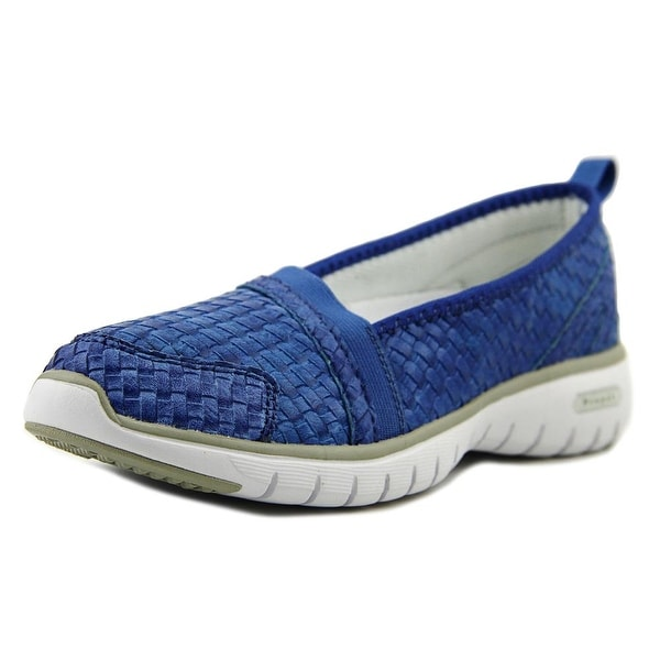 Propet Travellite Slip-On Woven Women Round Toe Synthetic Blue Loafer