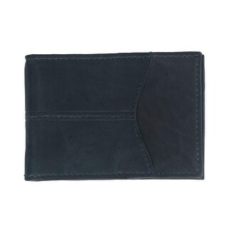CTM® Men's Leather Gray Washed Bifold Wallet with Wing Bar - One size