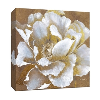 """PTM Images 9-147284  PTM Canvas Collection 12"""" x 12"""" - """"Golden Blossom II"""" Giclee Flowers Art Print on Canvas"""