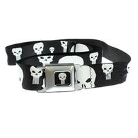 Marvel The Punisher Scattered Logo Seatbelt Belt-Holds Pants Up