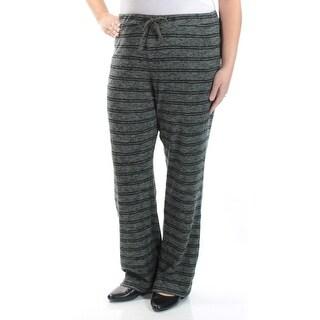 HIPPIE ROSE $22 Womens New 1209 Green Striped Tie Lounge Pants XL Juniors B+B