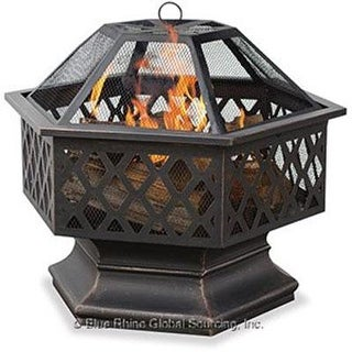 Blue Rhino - Wad1377sp - Uf Hex Shaped Lattice Firepit