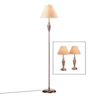 Contemporary Copper Lamps Trio