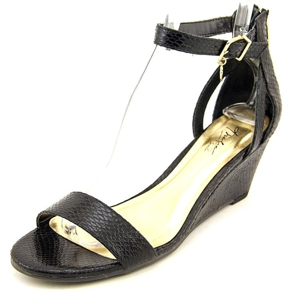 Thalia Sodi areyana Women Open-Toe Leather Black Heels