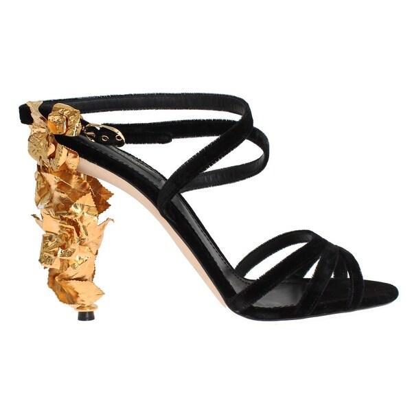 black velvet sandals womens