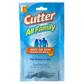 Cutter HG-95838 Insect Repellent Wipes, 15 Count