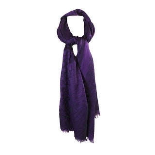 Style & Co. Purple Animal-Print Wrap OS