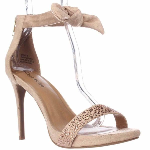ZIGI Sauly Accent Bow Ankle Strap Sandals, Cinnamon