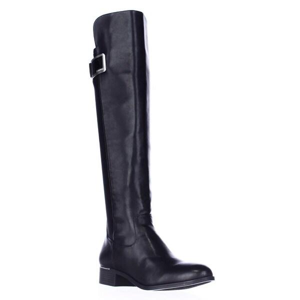 Calvin Klein Cyra Dress Back Stretch Riding Boots, Black