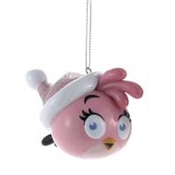"3.25"" Angry Birds™ Pink Glitter Bird Decorative Christmas Ornament"