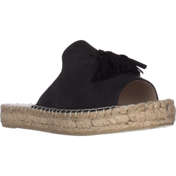 Seven Dials Wendelle Slip On Espadrilles, Black Smooth