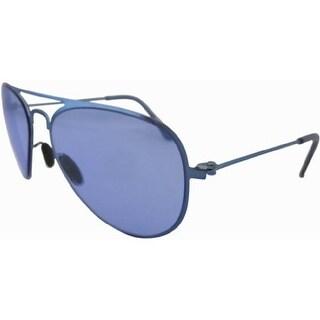 Eyekepper Stainless Steel Frame Aviator Kids Children Sunglasses Blue