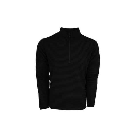 StS Ranchwear Western Sweatshirt Mens Vandon 1/4 Zip Black