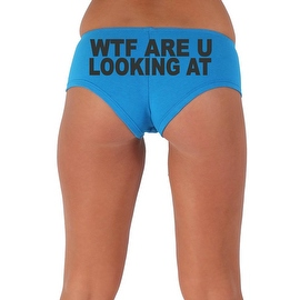 Women's Sexy Hot Booty Boy Shorts WTF Are You Looking At? Block Black Bold Style Type Lingerie