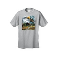 Men's T-Shirt Bald Eagle in Nature USA Forever Freedom American Heritage Tee - Thumbnail 3