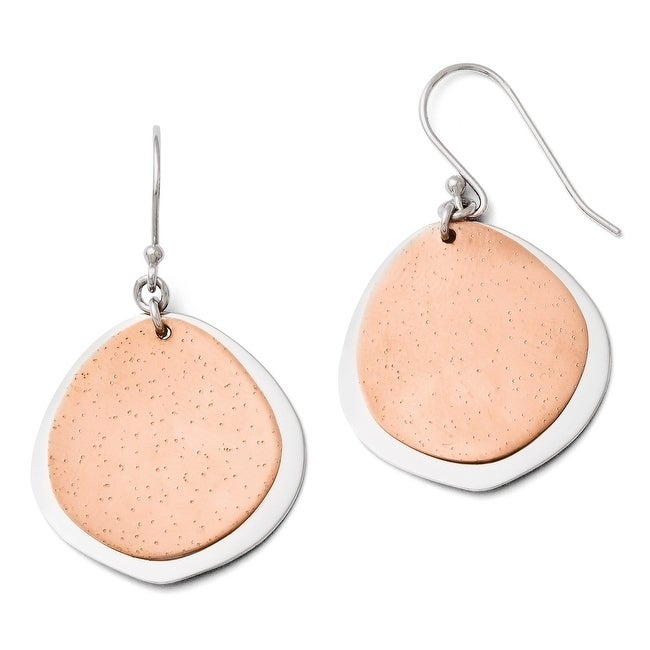 Sterling Silver Radiant Essence Rose Gold-plated Earrings