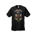 Men's T-Shirt USA Flag Honor Their Sacrifice Veteran American Bald Eagle Military - Thumbnail 3